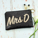 Personalised Mrs Bridal Clutch Bag
