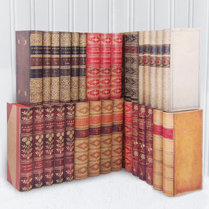 Faux Classic Book Shelf Tidy Sets - bookends