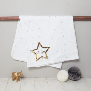 Personalised Baby Blanket Starry Design - gifts for babies