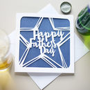 Father's Day Papercut Card