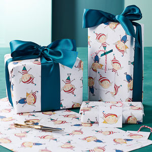 Elf Christmas Wrapping Paper Set - cards & wrap
