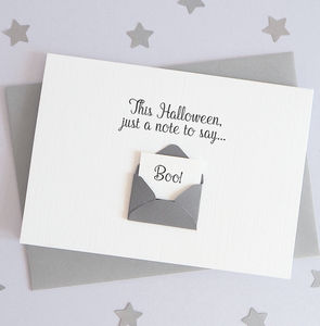 Happy Halloween A Note To Say Boo Envelope Card - what's new