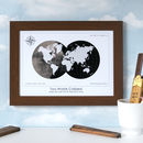 Personalised Destination 'Two Worlds Collided' Map