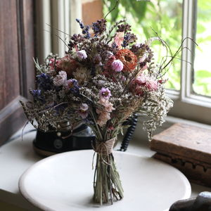 Dried Bridal Posy The Woolhope Wedding Collection