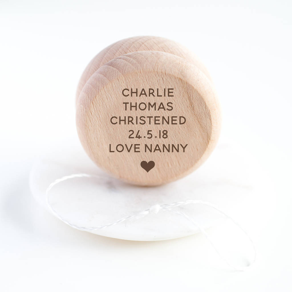 Personalised Wooden Yoyo