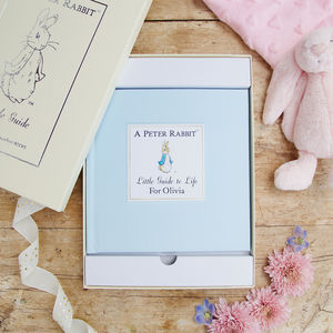 Personalised Peter Rabbit Little Guide To Life Book - gifts for babies