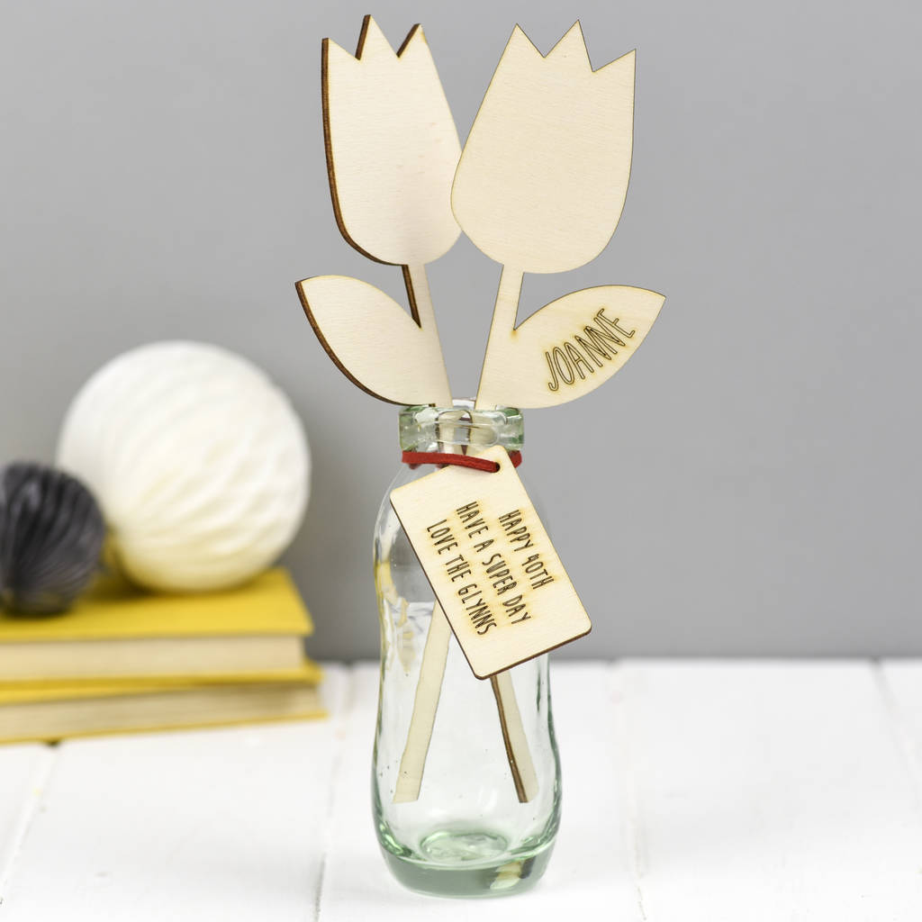 Wooden flower 40th birthday gift by we are scamp wooden flower 40th birthday gift izmirmasajfo