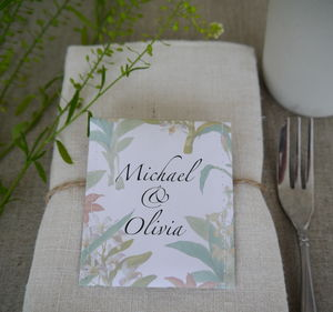 Botanical Tea Wedding Favour