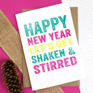 Happy New Year! Let's Get Shaken And Stirred Card - new lines added