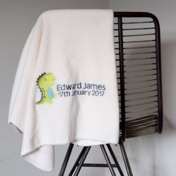 Personalised Dinosaur Fleece Blanket