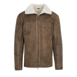 Mens Chestnut Aviator Sheepskin Coat - view all new