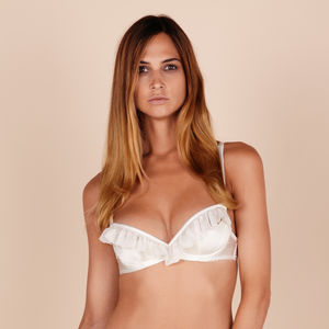 'Bardot' Silk Peek A Boo Bra - women's fashion