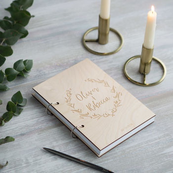 Personalised Wooden Wedding Guest Book