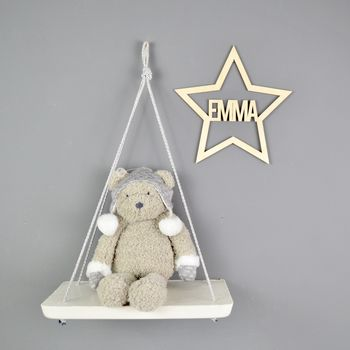 Personalised Star Wooden Wall Hanging
