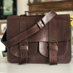 Leatcher Satchel Duble Backless