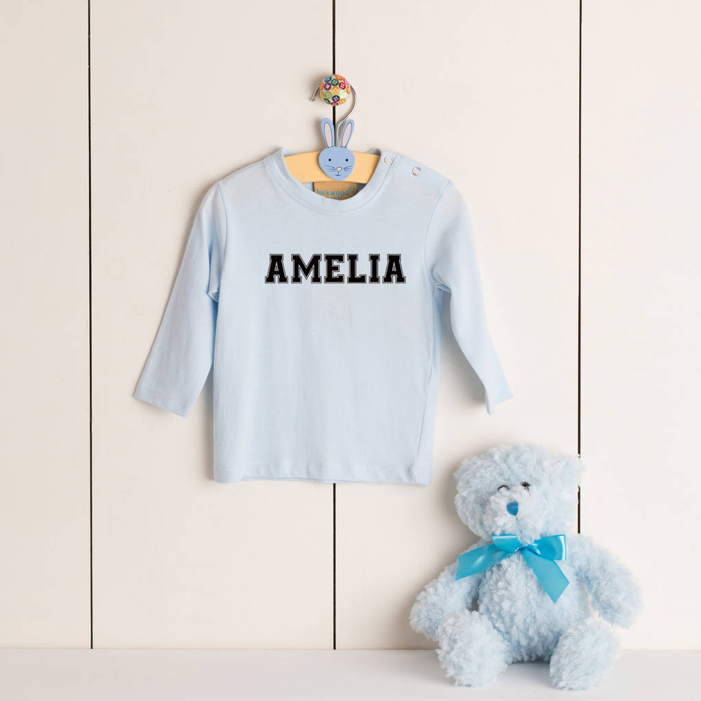 Personalised Long Sleeve Toddler T Shirt