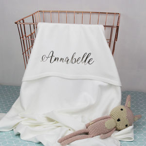 Personalised Hooded Baby Blanket, Organic Cotton - new in baby & child