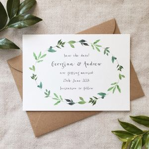 Botanical Garden Save The Date Card - invitations