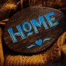'Home' Hand Painted Wooden Sign