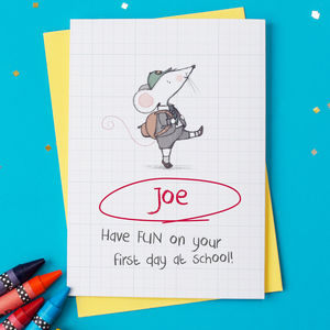 Good Luck On Your First Day Of School Card - first day of school gifts