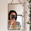 Personalised Hanging Message Mirror