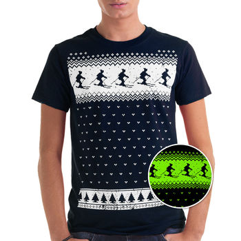 Mens Glow In The Dark Ski T Shirt