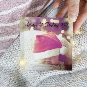 Baby First Christmas Acrylic Standing Photograph - christmas home accessories