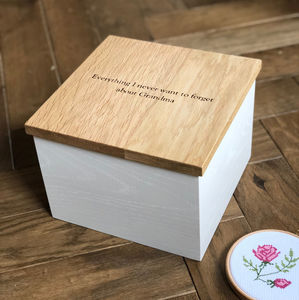 Bespoke Oak Memory Box - keepsake boxes
