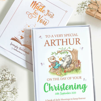 Christening Gift Book with Presentation Gift Box