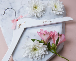 Personalised Engraved Flower Girl Hanger - wedding dress hangers