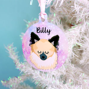 Dog Christmas Tree Decoration Universe
