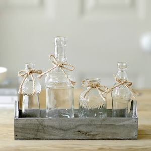 Antique Country Garden Bottle Collection - living room