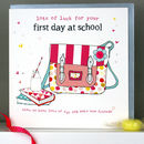 First Day At School Card Girl/Boy