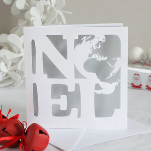 Noel Papercut Christmas Card