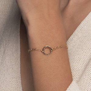 Gold Or Silver Hammered Circle Bracelet - bracelets & bangles