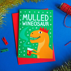 Mulled Wine Dinosaur Card