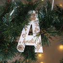 Personalised Hanging Letter Keepsake Decoration