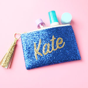 Personalised Name Glitter Clutch Bag