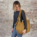 Fair Trade Cotton Everyday Shoulder Bag Zip Closure
