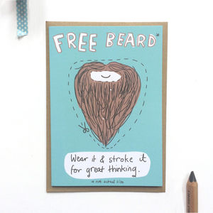 'Free Beard' Greeting Card