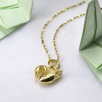 Gold Plated Swan Necklace