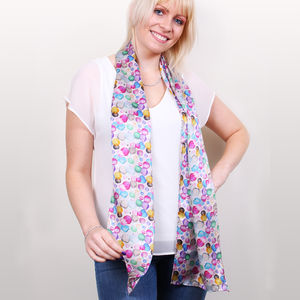 Bloom Long Silk Scarf
