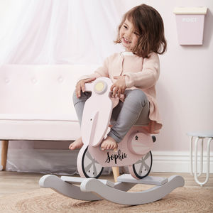 Personalised Pink Rocking Scooter - view all gifts for babies & children