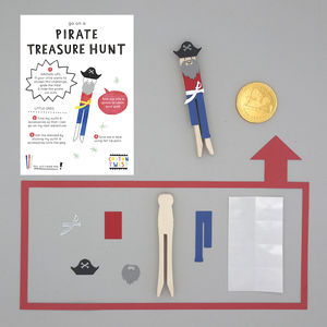 Make Your Own Pirate Peg Doll Kit - for children