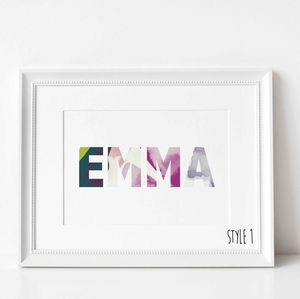 Personalised Floral Name Print - what's new
