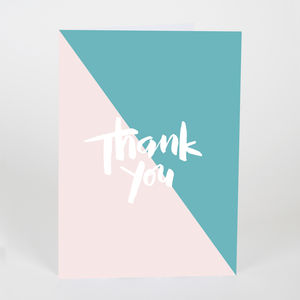 Thank You Nude / Turquoise - thank you cards