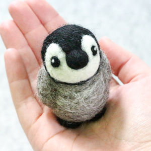 Baby Penguin Mini Needle Felting Craft Kit - knitting kits