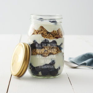 Personalised Breakfast Jar For Mum - kitchen