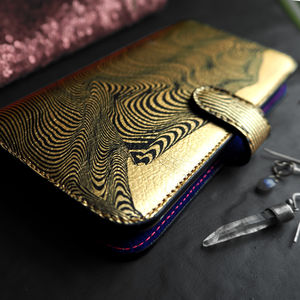 Gold Leather iPhone And Samsung Galaxy Wallet Case