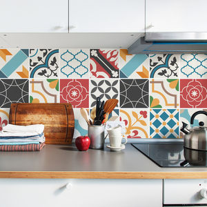 Spanish Mediterranean Tile Decal Sticker Set Pack Of 24 - tiles & tile stickers
